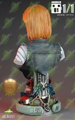 11 Scale GREEN LEAF STUDIO Life Size GLB001 Android 81 Bust Collection Statue