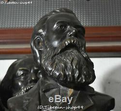 50cm Big China Bronze Germany Great People Man Friedrich Engels Head Bust Statue
