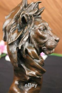 African Lion Head Bust Desk Top Home Decor Collection Statue Figurine Statue Art