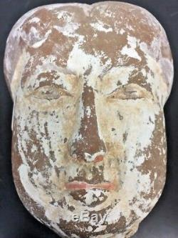 Antique Chinese Tang Dynasty Pottery Head Statue Lady Bust