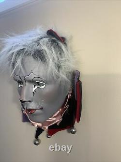 Beautiful Cats Broadway Musical Vintage Ceramic Jester Mime Clown Head Bust