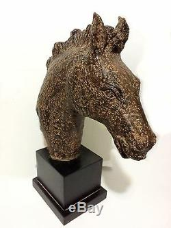 Beautiful Large Resin Horse Head Bust Statue 22 x 19 x 7