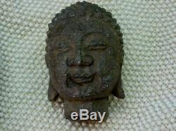 Buddha Head Older Stone Carving Statue Sculpture Bust