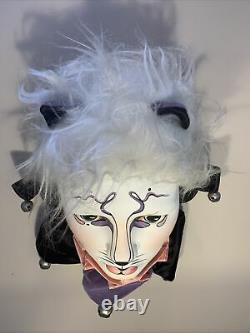 Cats Broadway Musical Vintage Ceramic Jester Mime Clown Head Bust Beautiful
