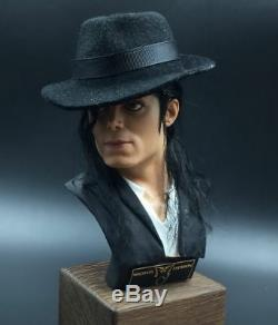 Dandelion 1/3 POP Michael Jackson Chest Head Bust Statue WithWood Stand Display