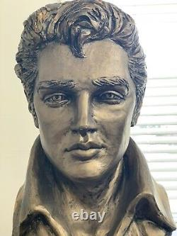 Elvis Presley Life Size Head Bust Copper Heavy Vintage Statue