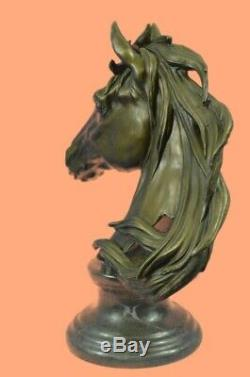 Extra Large Triple Crown Winner Horse Head Bust Sculpture Statue Bronze Decorati