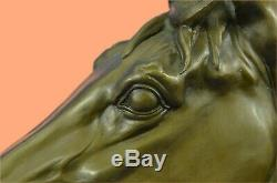 Extra Large Triple Crown Winner Horse Head Bust Sculpture Statue Bronze Figurine