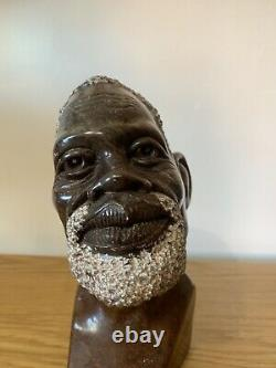 Fine Antique African Man Bust Head / Carving / Statue Sculpture. Marble Stone
