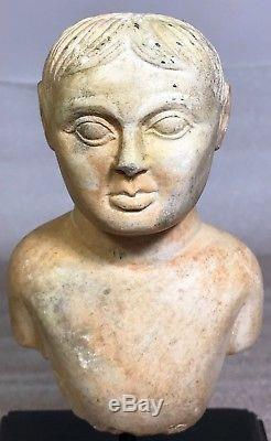 Huge Ancient Roman Marble Bust Statue Head Of Octavian Hellenistic Prince 30 Bc