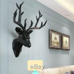 Large 3D Deer Head Statue Sculpture Decor Home Wall Decoration Accessories