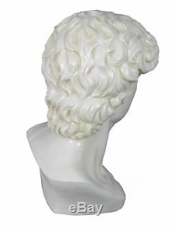 Large White Michelangelo Bust of David Statue Ornament Figurine Head Roman New