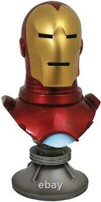 Legends In 3D Marvel Iron Man Comic 1/2 Scale Bust New Toy Statue, C