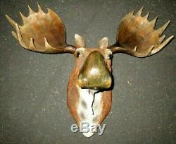Moose Head Bust Hanging Wall Mount Home Decor Collection Statue 28 x 15 x 24