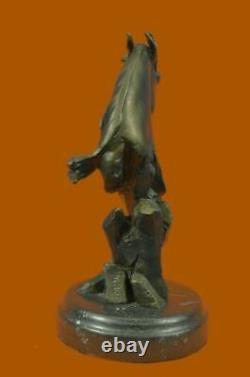NEW Horse Head Bust Statue Ornament Sculpture Antique Style 100% Solid Bronze NR