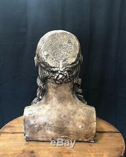 Plaster bust statue head with great detail