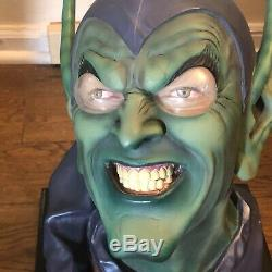 Rare Dynamic Forces Green Goblin Life Size Head Bust Statue Spider-man 264/599