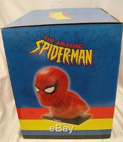Signed By Stan Lee Spider-man Life Size Bust Head By Alex Ross Statue Marvel