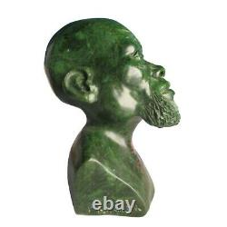 Stone Bust Head African Sculpture Carved Vintage Man Statue Signed Zimbabwe Hand