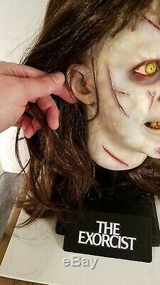 The Exorcist Regan lifesize bust with stand head prop statue not mask pazuzu