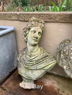 Vintage Athena Bust Heads Statues X3