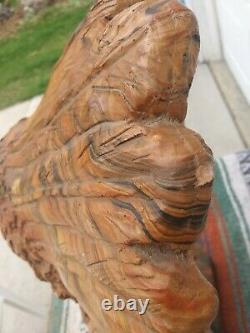 Vintage INDIAN CHIEF BUST HEAD STATUE Mission Swirl LAYERED CLAY & RESIN 38 lbs