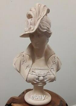 Vintage Porcelain Bisque French Maiden Woman Beauty BUST Head 8 statue
