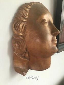 Wooden statue wood carved corpus maria head buste